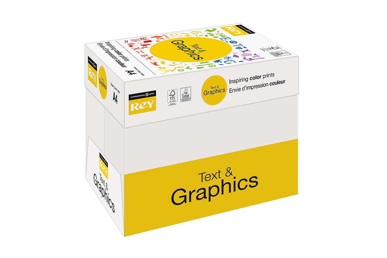 Rey A4 Text & Graphics paper box